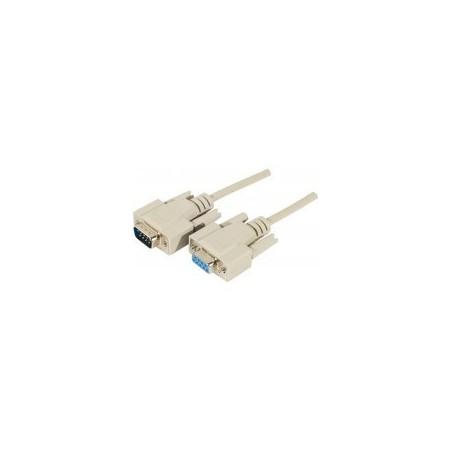 Câble serie DB9 droit M/F