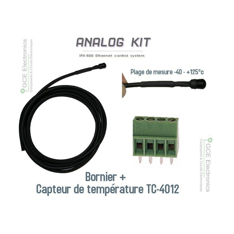 Temperature sensor to relay board ethernet IPX-800.