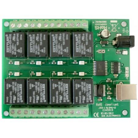 Carte USB, 8 Relais pour PC