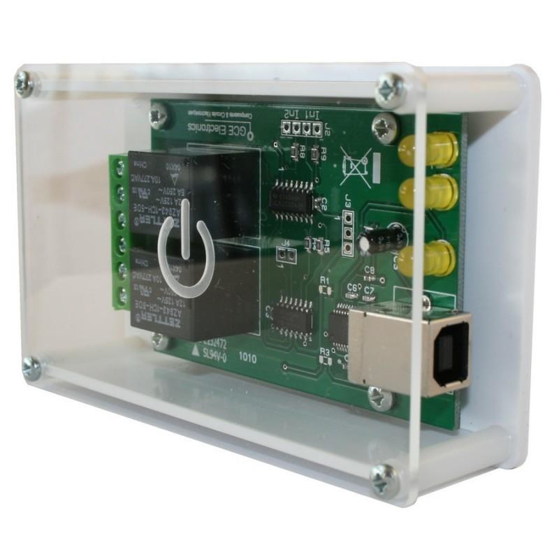 Carte USB -X220 / 2 entrées  / 2 sorties relais