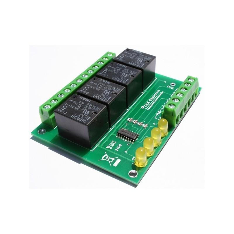 Carte 4 relais 10A +5Vcc