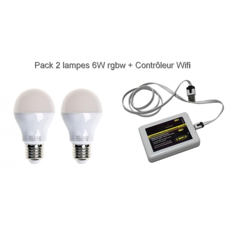 Lampe Led RGBW E27 6W